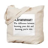 Grammar Canvas Totes