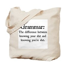 Grammar Differences Tote Bag
