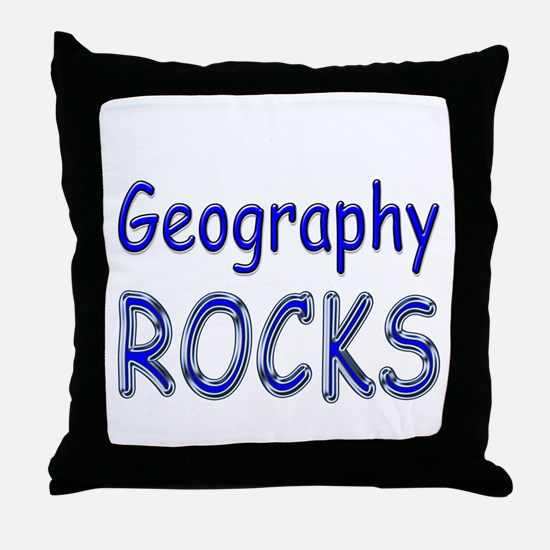 Geography Rocks Throw Pillow