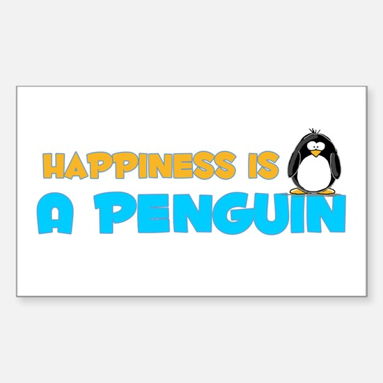 Penguin Happiness Rectangle Decal