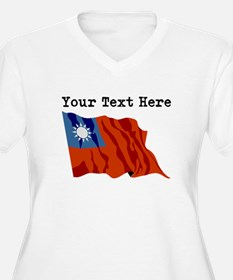 Custom Taiwan Flag Plus Size T-Shirt