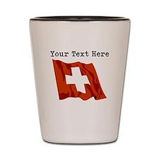 Custom Switzerland Flag Shot Glass