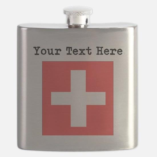 Custom Switzerland Flag Flask