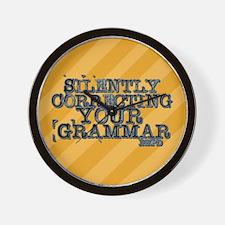 Correcting Your Grammar Wall Clock