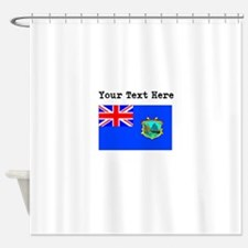 Custom Old St Helena Flag Shower Curtain