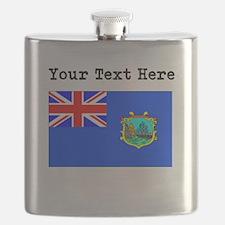 Custom Old St Helena Flag Flask