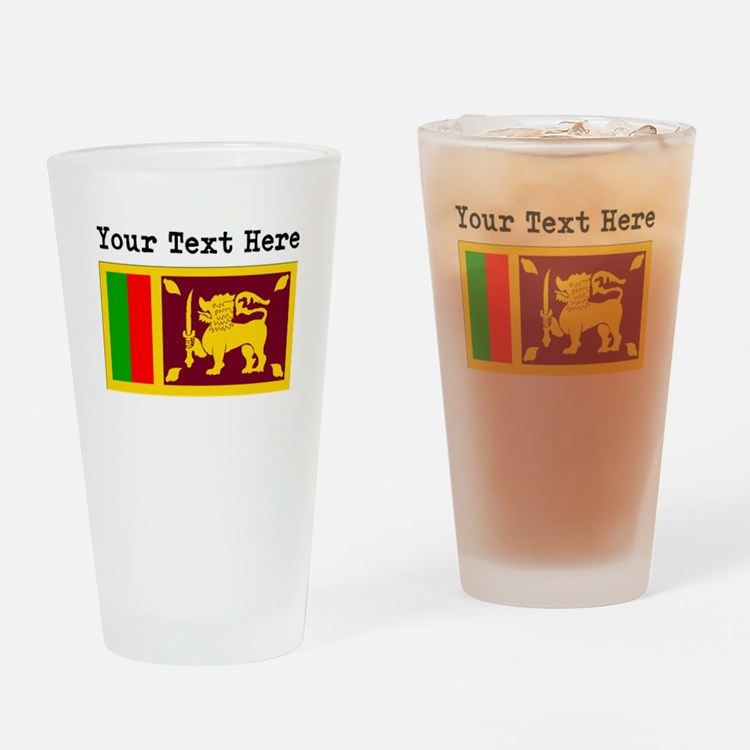 Custom Sri Lanka Flag Drinking Glass