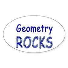 Geometry Rocks Oval Decal