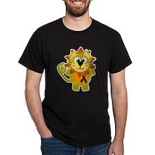 Burgundy Awareness Ribbon Lion T-Shirt