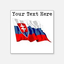 Custom Slovakia Flag Sticker
