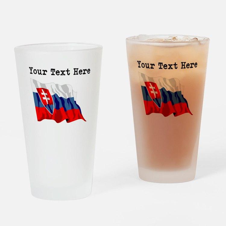 Custom Slovakia Flag Drinking Glass