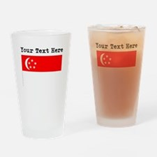 Custom Singapore Flag Drinking Glass