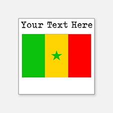 Custom Senegal Flag Sticker