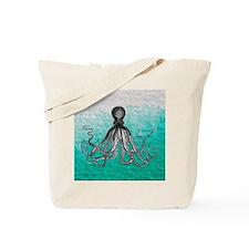 Ombre vintage nautical octopus watercolor Tote Bag