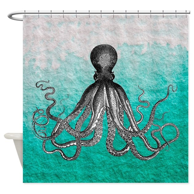 Turquoise Shower Curtains | Turquoise Fabric Shower Curtain Liner