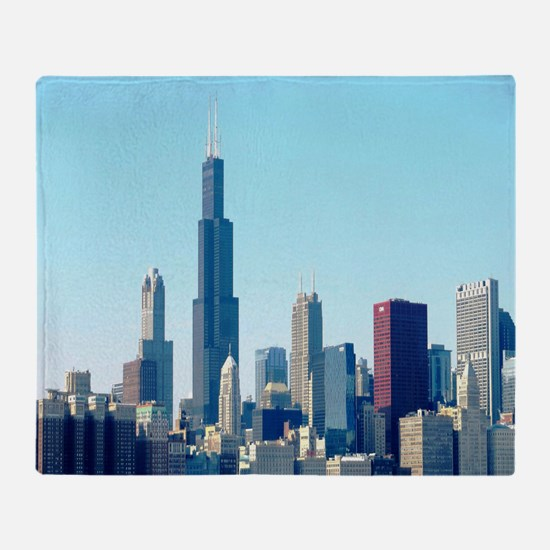 Chicago Cityscape Throw Blanket