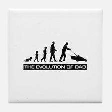 The Evolution of Dad Tile Coaster