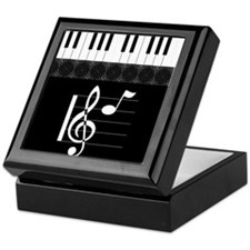 Piano Etude in Black Keepsake Box