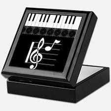 Piano Etude in Black Keepsake Box