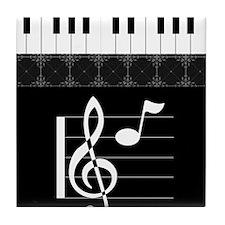 Piano Etude in Black Tile Coaster