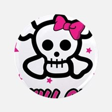 "Skull Girl 3.5"" Button"