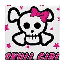 Skull Girl Tile Coaster