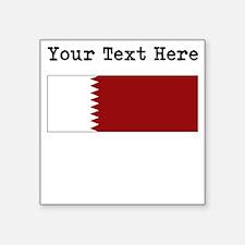 Custom Qatar Flag Sticker