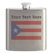 Custom Puerto Rico Flag Flask