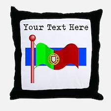 Custom Portugal Flag Throw Pillow