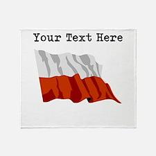Custom Poland Flag Throw Blanket