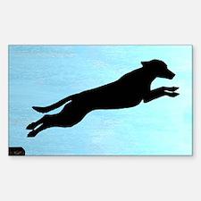 Dock Jumping Labrador Dog Rectangle Decal