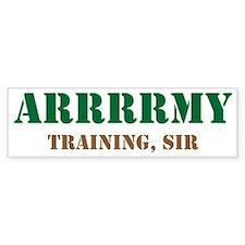 Army Training Sir Bumper Sticker
