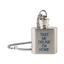 Take Me Drunk…I'm Home Flask Necklace