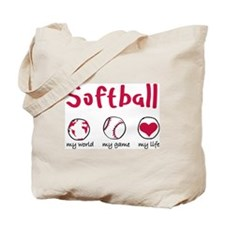 Softball Circles Tote Bag