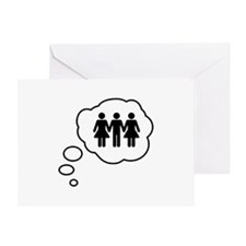 Threesome Thought Bubble Greeting Card
