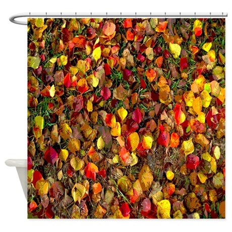 Colorful Fall Leaves Autumn Shower Curtain By Rebeccakorpita