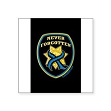 "Funny Fallen officers Square Sticker 3"" x 3"""