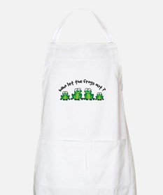 Who Let The Frogs Out Apron