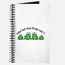 Who Let The Frogs Out Journal