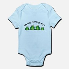 Who Let The Frogs Out Infant Bodysuit