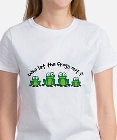 Who Let The Frogs Out Women's T-Shirt
