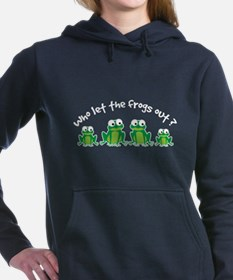 Who Let The Frogs Out Women's Hooded Sweatshirt
