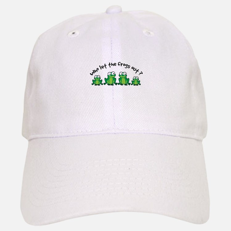 Who Let The Frogs Out Baseball Baseball Cap