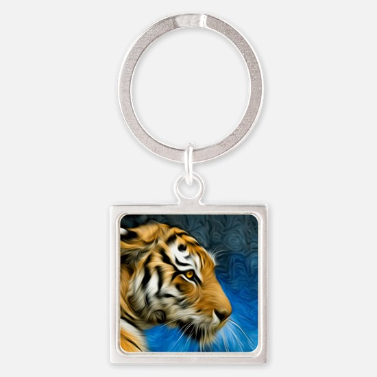 Tiger Art Painting Keychains