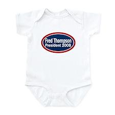 Vote Fred Thompson President in 2008 Infant Bodysu