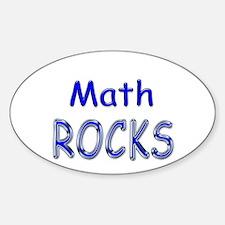 Math Rocks Oval Decal