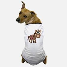 Burgundy Awareness Ribbon Pony Dog T-Shirt