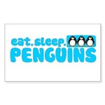 Eat - Sleep - Penguins! Rectangle Sticker