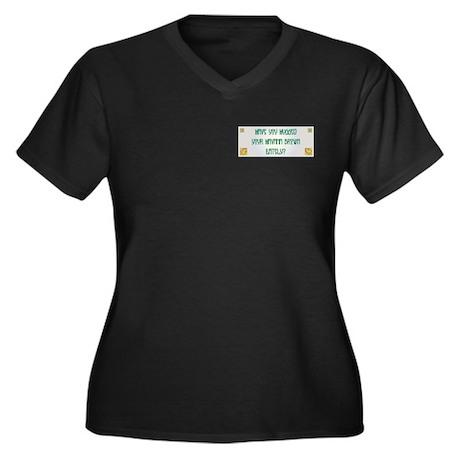 Hugged Havana Women's Plus Size V-Neck Dark T-Shir