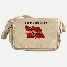 Custom Norway Flag Messenger Bag